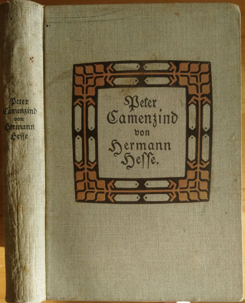 Hermann Hesse: Peter Camenzind. Berlin: S. Fischer Verlag, 1917. Einband