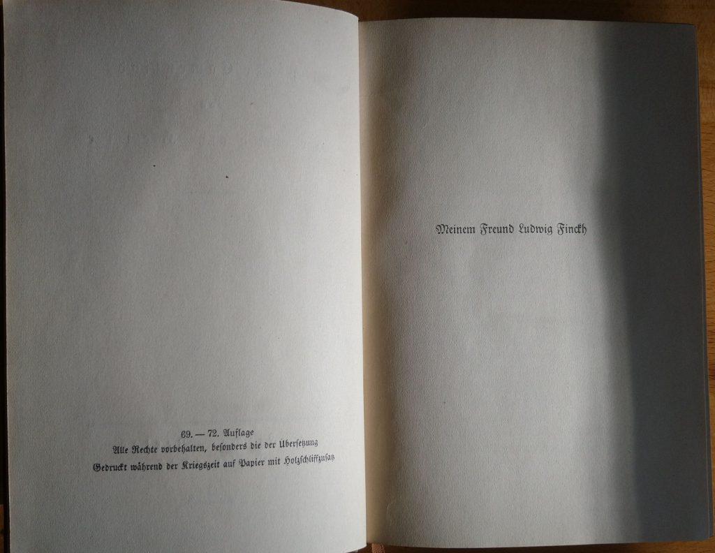 Hermann Hesse: Peter Camenzind. Berlin: S. Fischer Verlag, 1917. Impressum