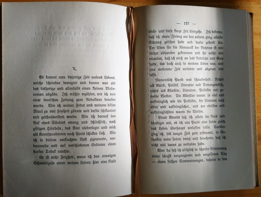 Hermann Hesse: Peter Camenzind. Berlin: S. Fischer Verlag, 1917. S. 126 f.
