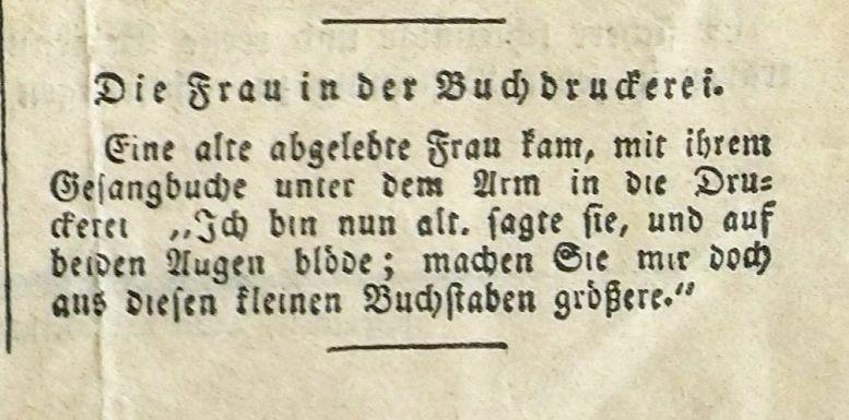 Schwarzwälder-Bote, Ausgabe Nr. 1, 3. Januar 1835 (Miszelle S. 3)